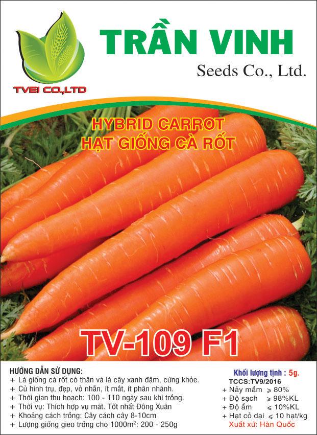 Hạt giống Cà rốt TV-109 F1