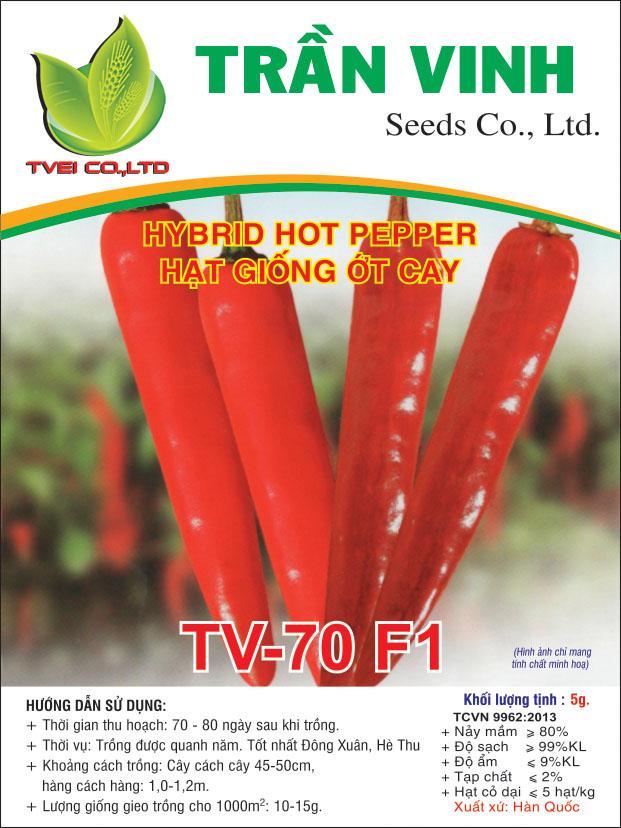 Hạt giống Ớt cay TV-70 F1