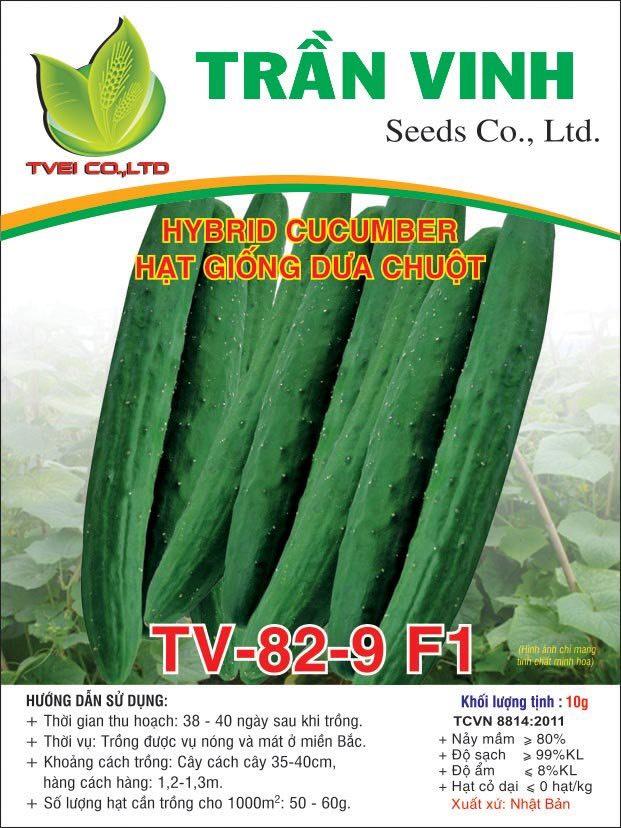 Hạt giống Dưa Leo TV-82-9 F1